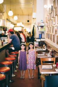 Girls in the deli