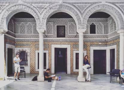 arabic architecture in medina Tunisia