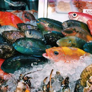 Fish market in Okinawa, Japan