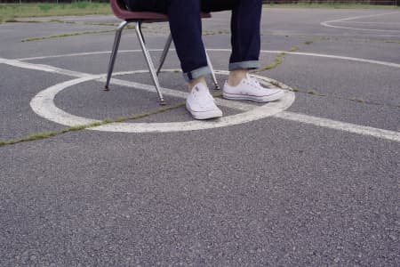 Basketball Court, Chair, Shoes