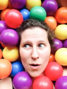 Selfie in a ball pit