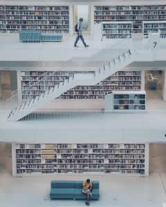 Library in Stuttgart
