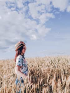 Girl in the fields