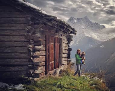 Happiness in the Swiss Alps