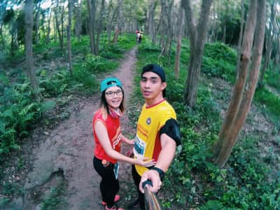 lifestyle of trail running couple