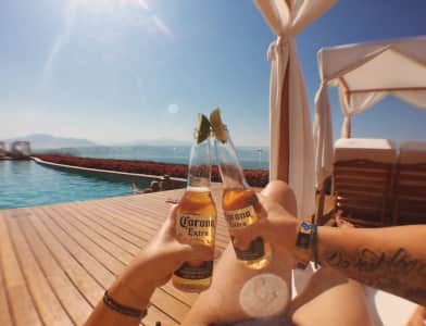 Coronas by the pool