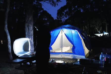 Camping in Deep Creek, South Australia