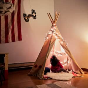 Toddler's reaction to seeing her TeePee light up for the first time.  Bewilderment Timeless.