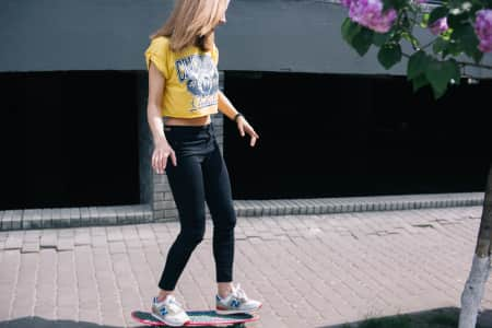 girl on a skateboard, leisure