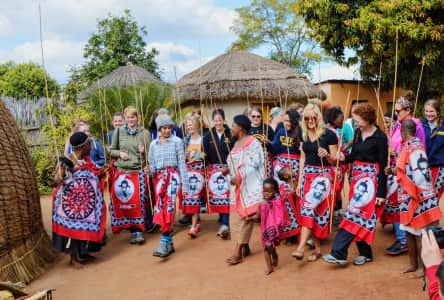 Learning traditional Swazi dances in a village in Swaziland!