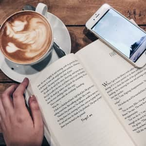 Coffee + Book = Perfect Combination.❤️📚☕️