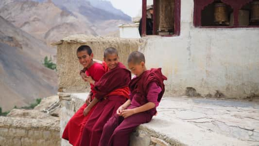 Three little monks.