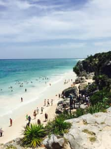Tulum beach is beautiful