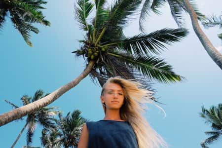 windy palms and hair