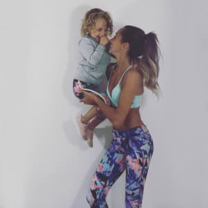Fit mum and daughter. Who said starting a family meant you couldn't lead a fit life