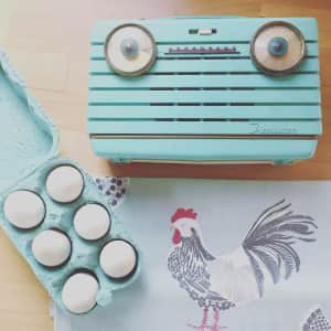 Country living, duck egg, retro radio