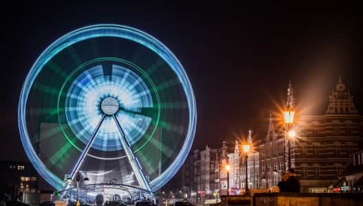 A Ferris wheel in Gdansk, Poland