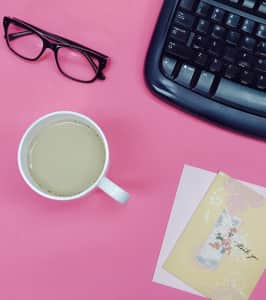 I'm all about cream in my coffee and Thank You cards..💕