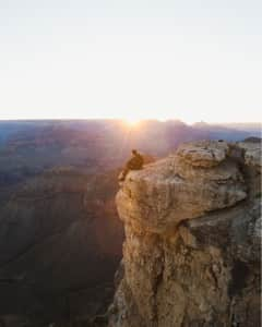 Early summer sunrise in the Grand Canyon