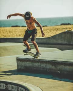 Skater at the Venice Beach Skatepark.
