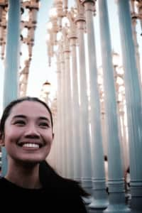 Happy at LACMA.