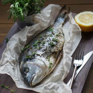 roasted fish with herbs