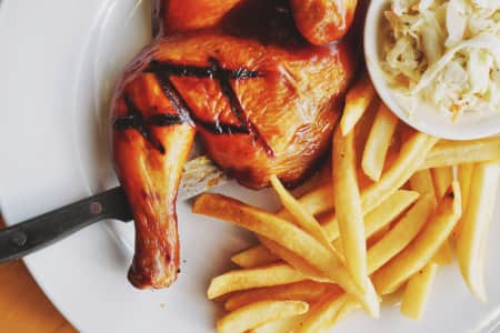 BBQ Chicken steak with french fries