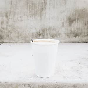 Empty coffee cup.
