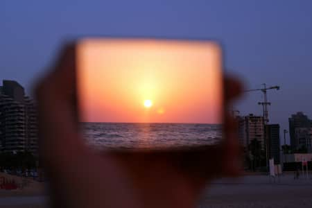 mirror and sunset