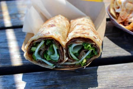 Outer Borough's scallion pancake rolls