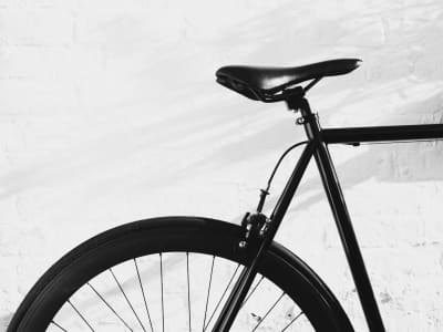 Black white bicycle ◾️◽️