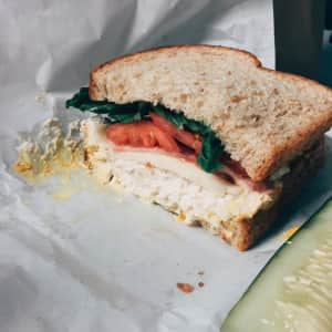 Chicken salad sandwich from Rosen's Deli in Westbrook, Maine.