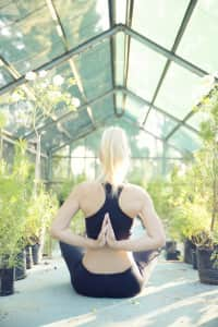 Yoga amongst nature.