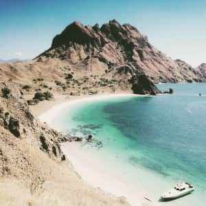 Blue paradise of Padar Island, Indonesia.