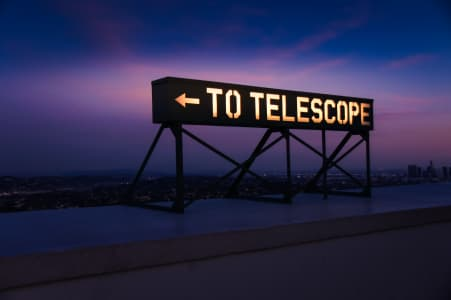 Telescope neon sign