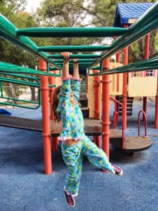 My monkey loves pajama day at the park!