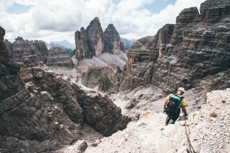 Facing Tre Cime.