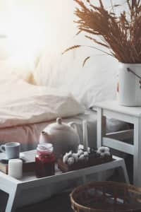 Cosy morning. Home