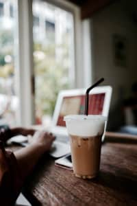 Ice coffee for working time