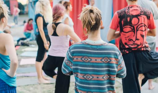 Yoga master class on the yoga festival