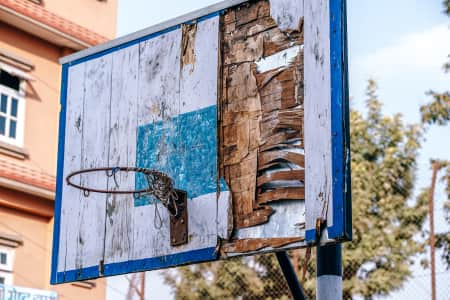 Wooden Vintage Basketball Hoop