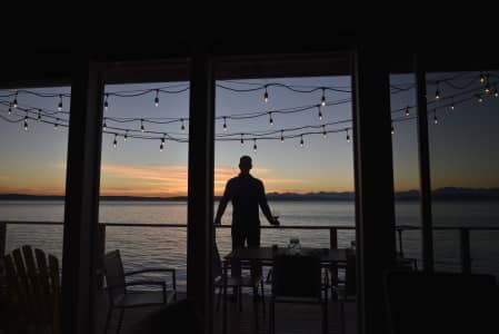 Sunset at the beach house. RLTheis