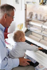 Generations by the piano