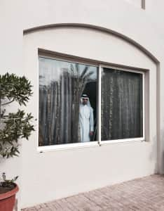 Watching from window- security first!  Qatar