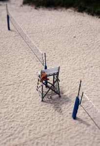 Volleyball beach court from above