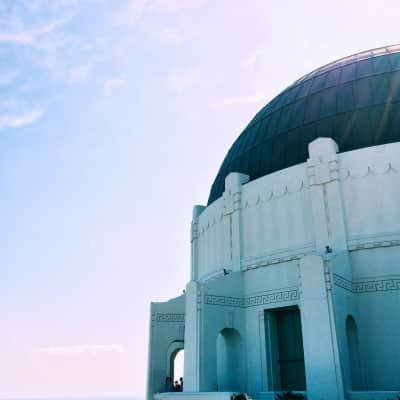 Griffith observatory in the daytime.