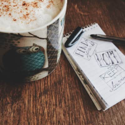 """Coffee and art? Any day. """"Find a spark of hope, and keep it burning."""""""