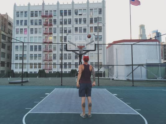 Balling on the roof.