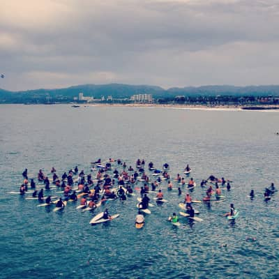 Venice Pier Paddle Out Memorial