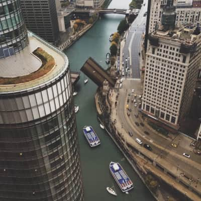 Over the Chicago River